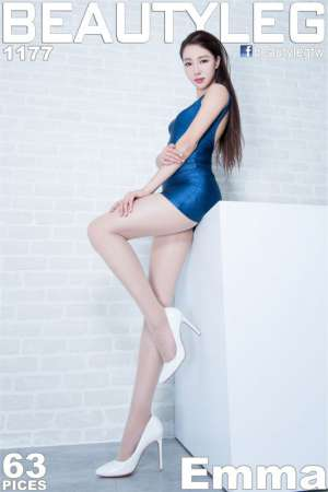 beautyleg腿模Emma室内短裙黑丝袜写真