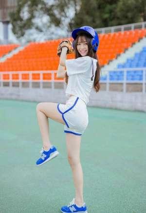 棒球宝贝运动活力青春甜美校园写真