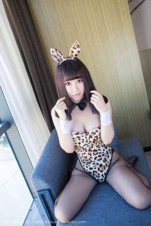 豹纹丝袜美女夏笑笑Summer私房性感写真