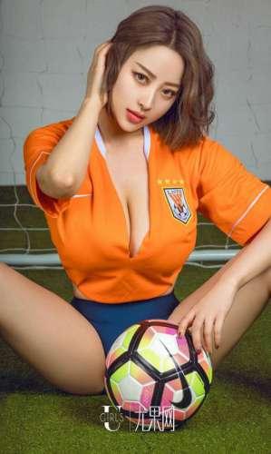 尤果网美女模特足球宝贝制服写真