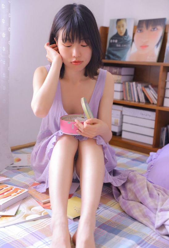 短发小纯爱少女模特日系清新摄影美腿性感写真