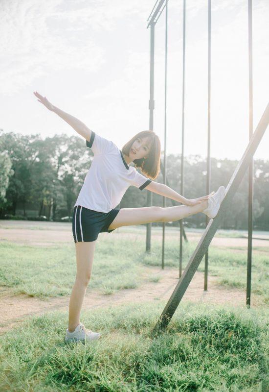 校园篮球宝贝少女日系体操服白嫩写真