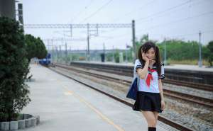 甜美女孩江若宁户外个人写真摄影