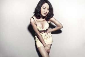 韩国吊带裙美女性感写真