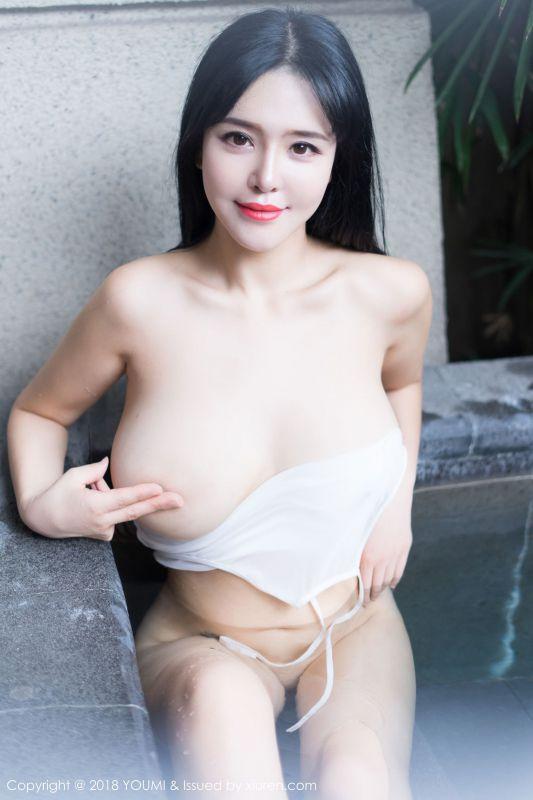女神@刘钰儿浴池湿身写真