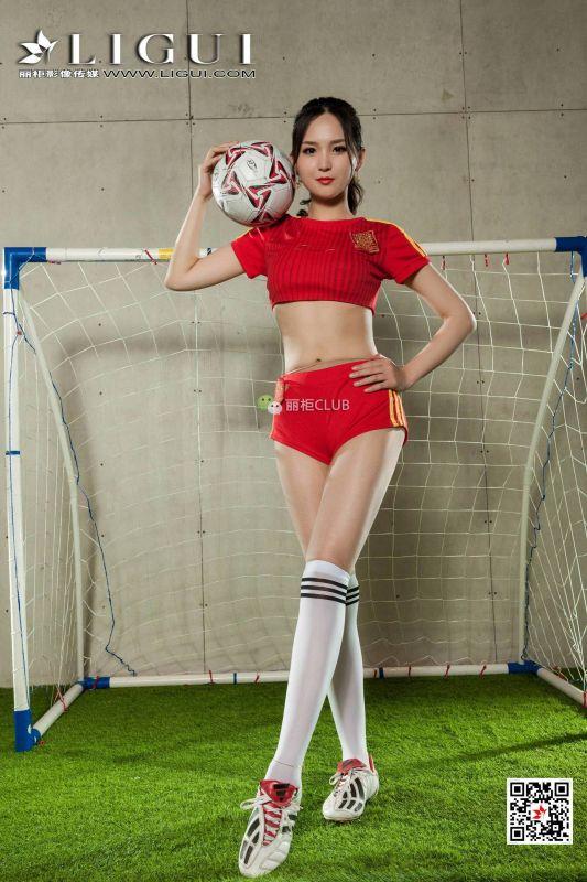 网络丽人 雪糕 - 足球宝贝丝足 写真套图