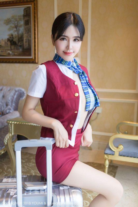 女神@刘钰儿 - 空姐制服写真