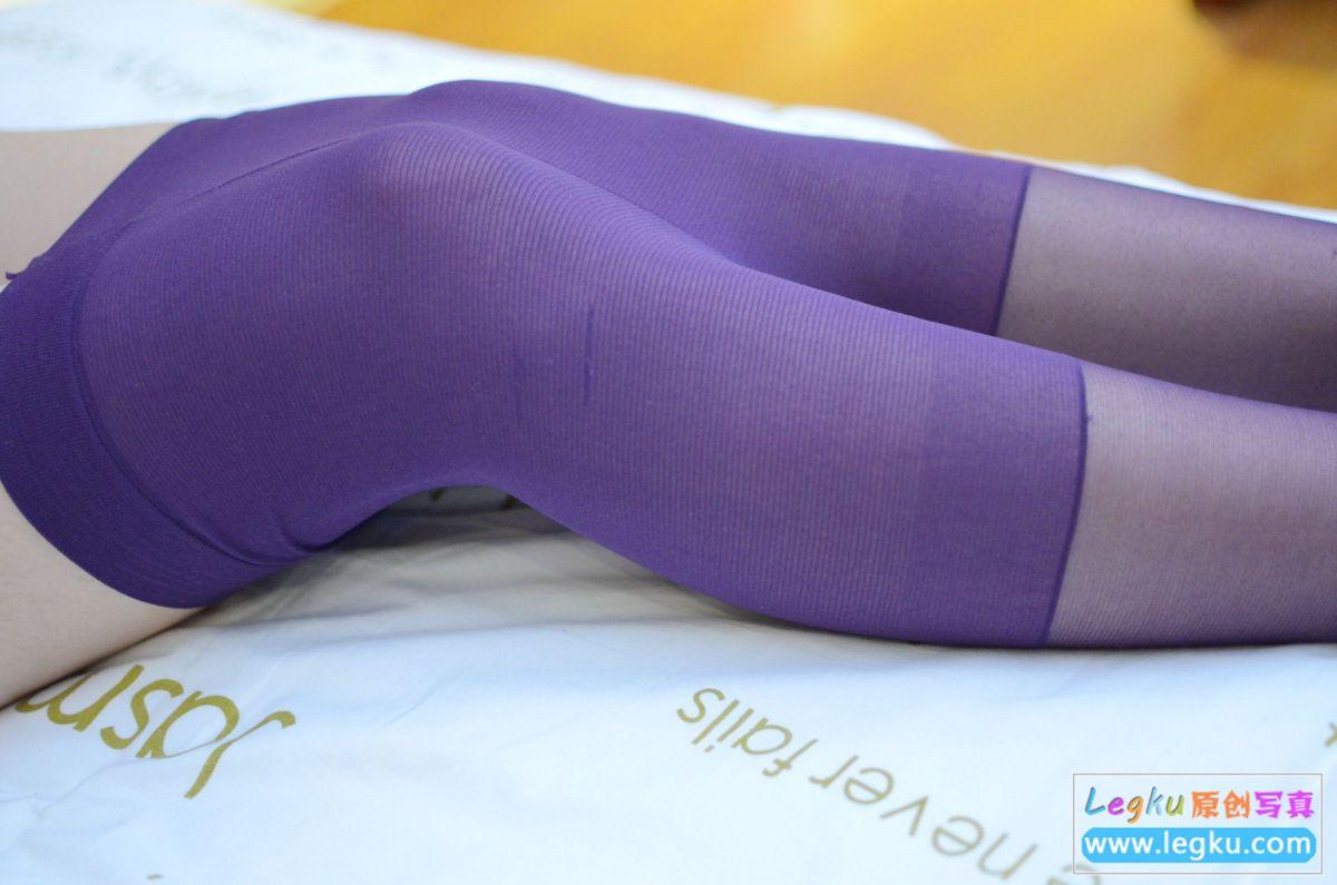 紫色丝袜丝足 写真套图