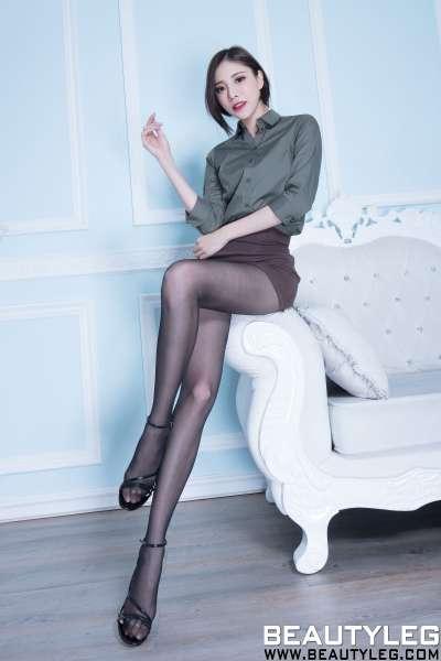 腿模Abby - 黑丝+肉丝美腿写真