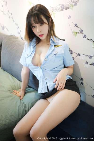 性感女神@王雨纯女警制服写真~