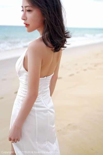 清纯女神@长腿美女施忆佳海边沙滩写真套图