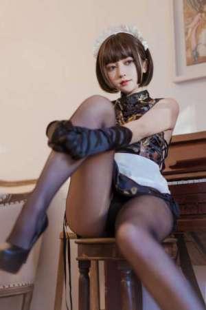 福利姬米线--黑丝旗袍