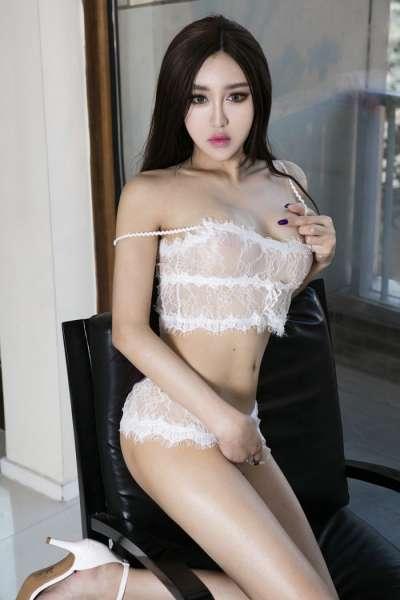 诱惑辣妹叶赫那拉信悦性感蕾丝内衣秀完美曲线